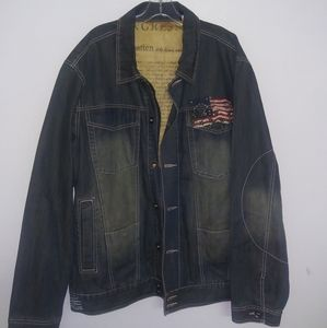 Marc Buchanan Pelle Pelle Denim Jacket